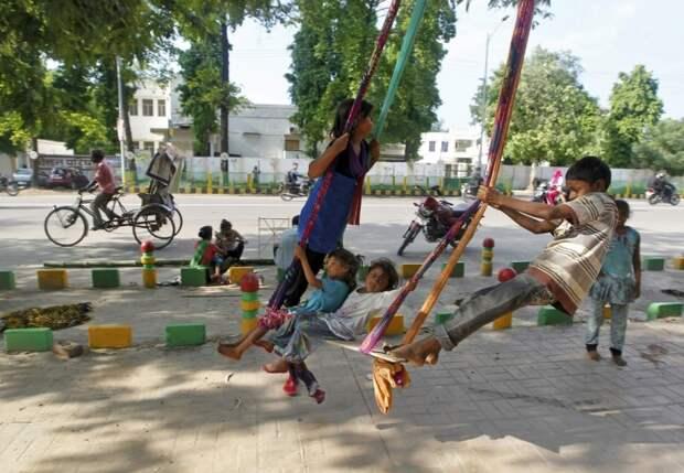 Кадры, сделанные в Индии на прошлой неделе