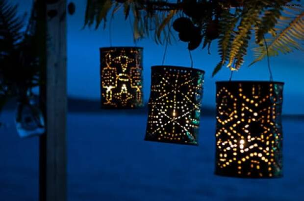 Садовые фонарики своими руками
