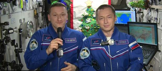 Поздравление с орбиты: российские космонавты обратились к жителям планеты по случаю Нового года