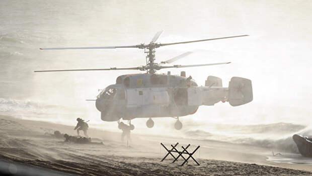 Вертолет во время российско-белорусских учений Запад-2013. Архивное фото