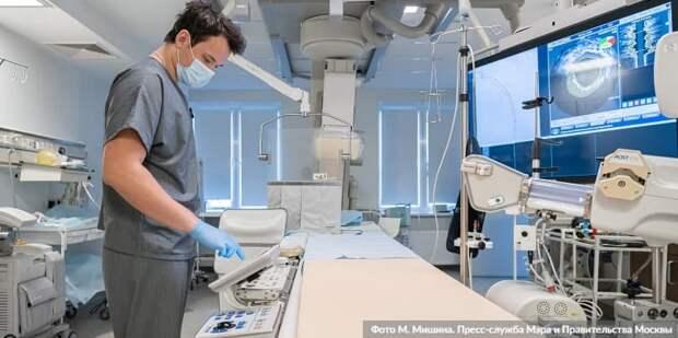 Собянин рассказал об оснащении больниц и поликлиник современным оборудованием