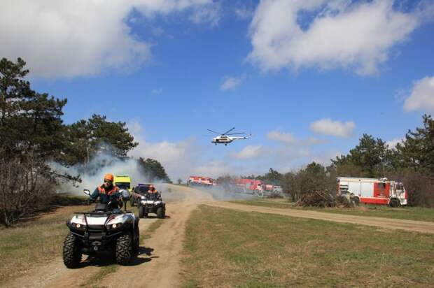 III этап командно-штабного учения: ликвидация лесного пожара и спасение пострадавших