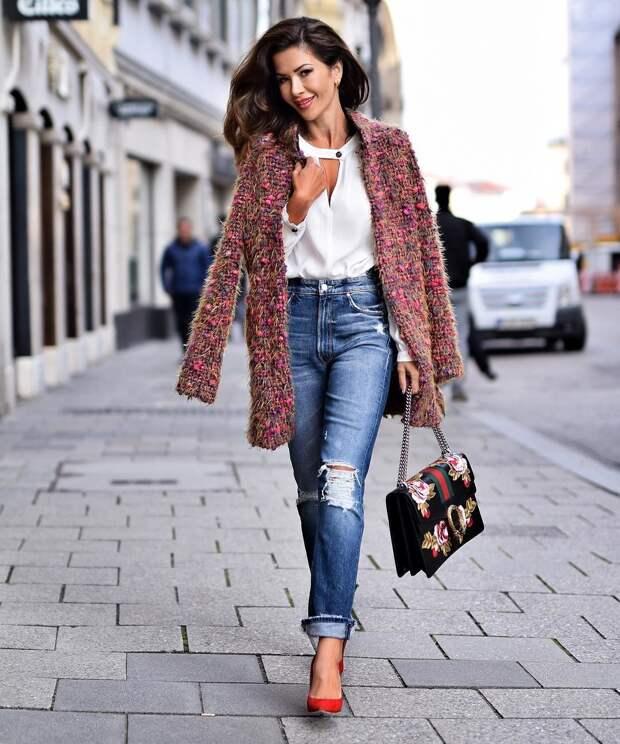 Джинсовая классика! 33 роскошных образа с прямыми джинсами