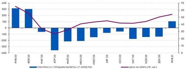 В январе покупки валюты в рамках бюджетного правила возобновляются