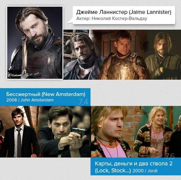"""Другие роли в кино актеров из сериала """"Игра престолов""""  кино, роли, игра престолов"""