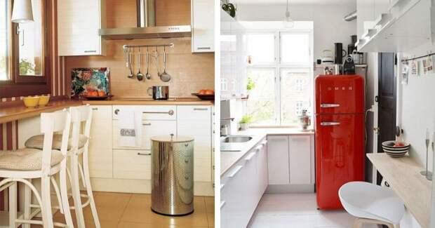 17 крошечных, но уютных кухонь, где поместился даже холодильник