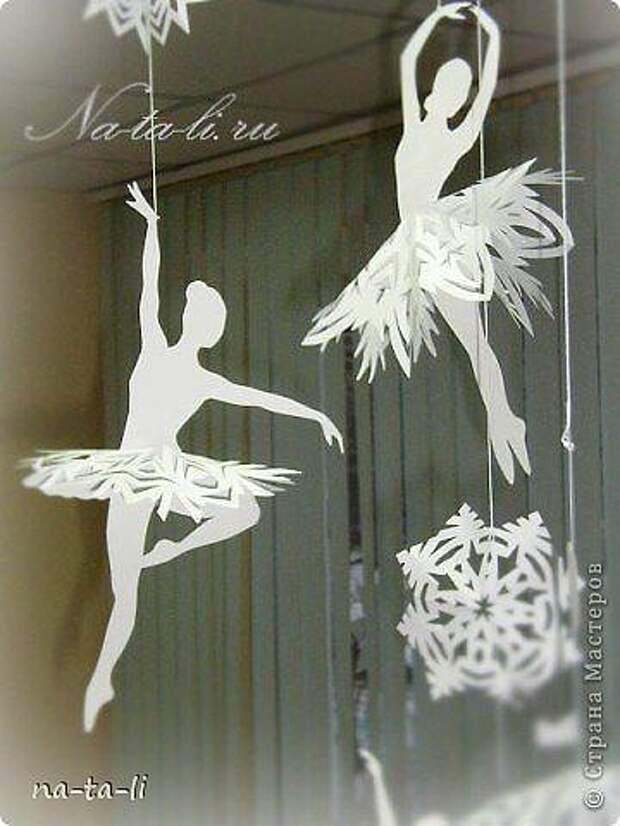 Снежинки-балеринки. Делаем своими руками и украшаем интерьер к новому году.