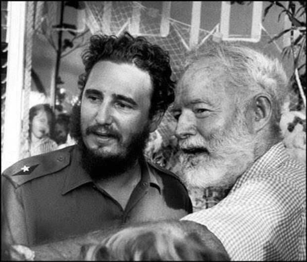 Фидель Кастро и Эрнест Хемингуэй, май 1960 г.  история, люди, фото