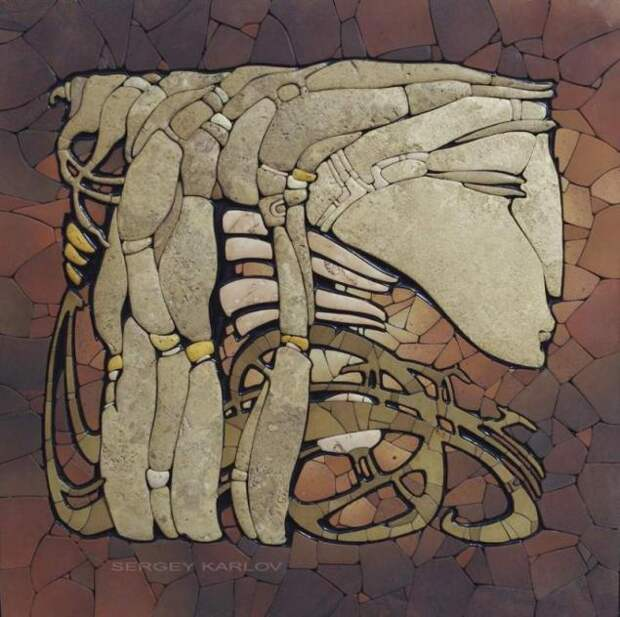 Сибирские мотивы в мозаике Сергея Карлова
