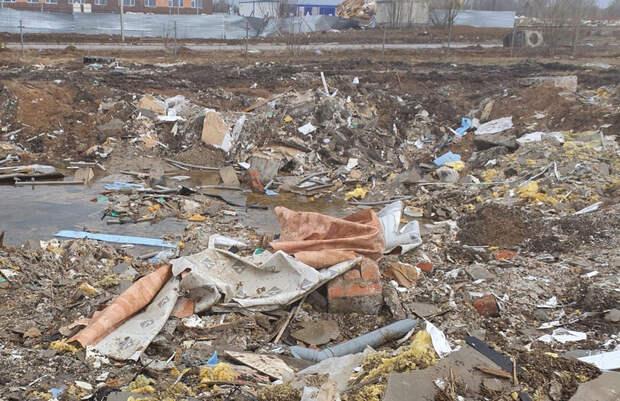 ВБерезниках после сноса ядовитых домов осталась стихийная свалка