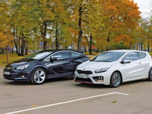 Kia pro_cee'd GT и Opel Astra GTC: 200 по пробкам