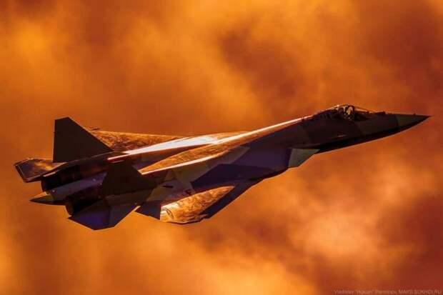 Необычная посадка Су-57 попала на видео